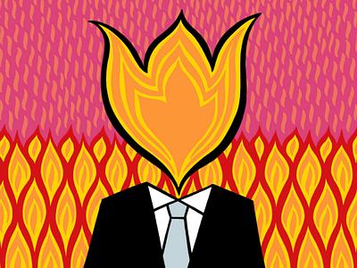 I bring you fire illustration fire