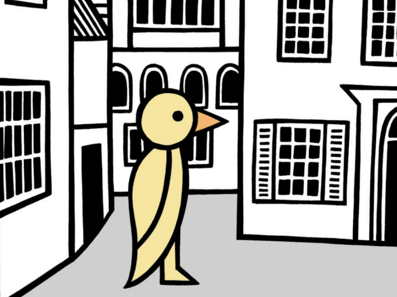 A duck around town duck town illustration art drawing
