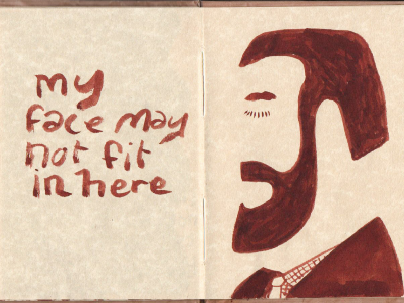 If the face fits portrait illustration sketchbook drawing