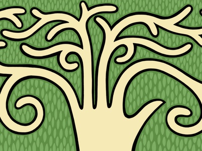 new growth green growth illustration drawing