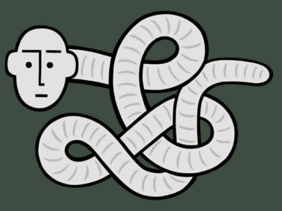 Today I will mostly be being a worm worm illustration