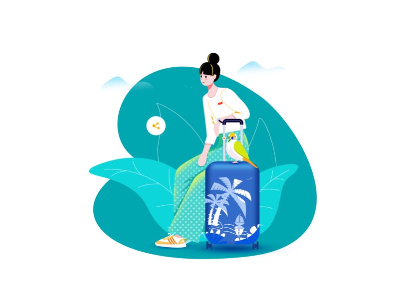 travel ui 插图 illustration