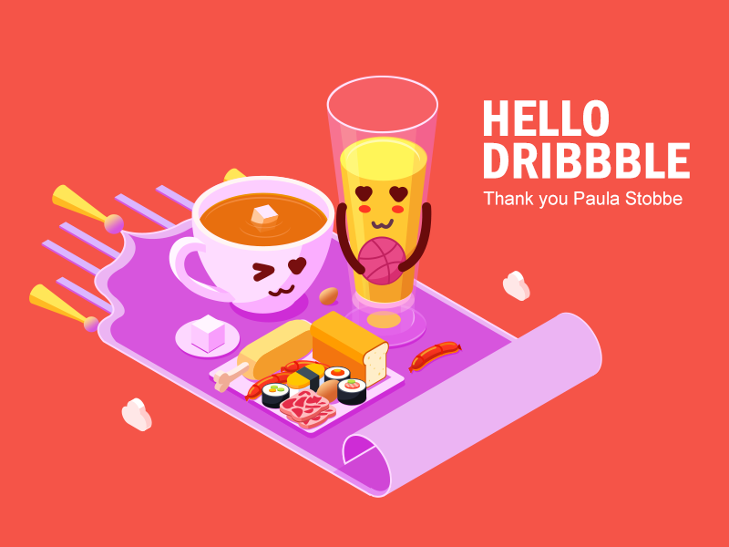 Hello Dribbble 插图 illustration