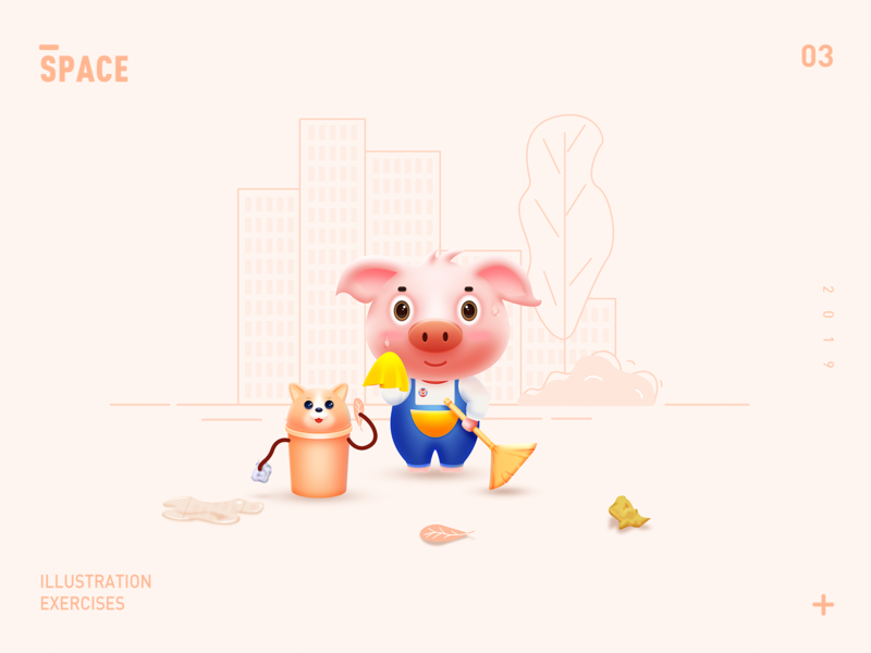 Pig design illustration