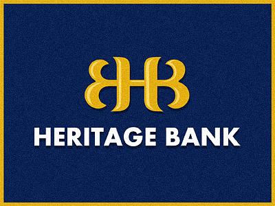 Heritage Bank  bank logo monogram h b