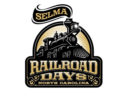 Selma RR Days logomotive logo steam railroad days selma train
