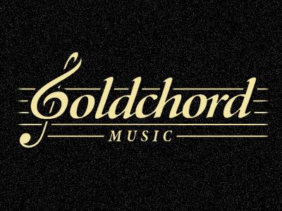 Goldchord logomotive logo chord music gold