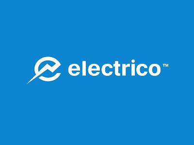 Electrico logomotive logo liigthning bolt e company electricity electric