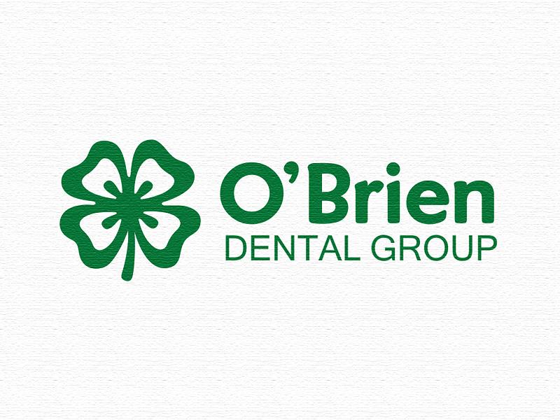 O'Brien Dental clover four leaf irish logomotive logo group teeth dental