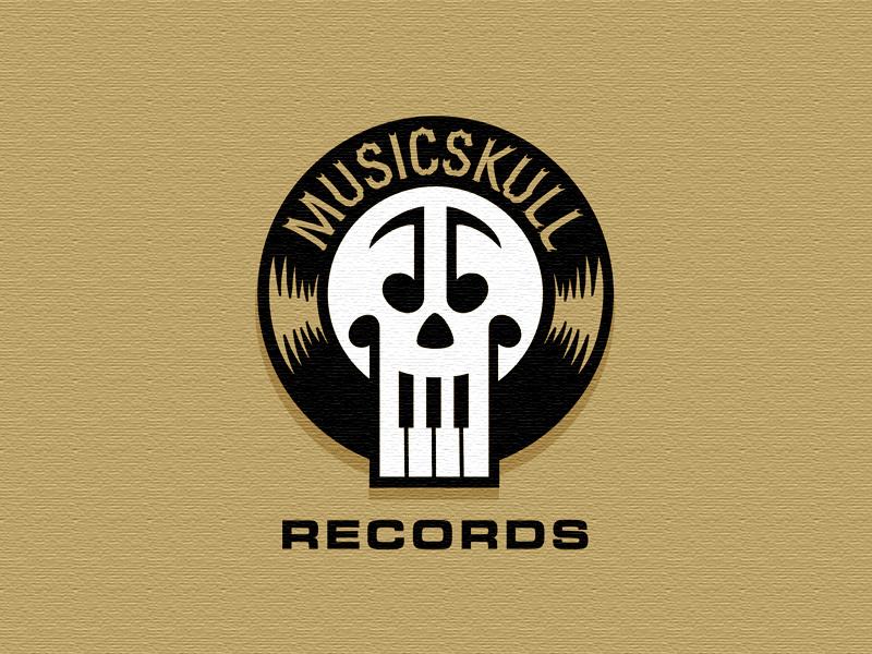MusicSkull logo erickson mike logomotive music skull
