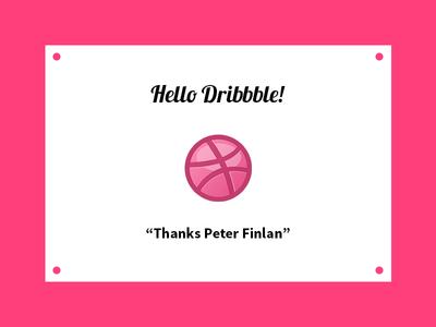 Dribbble Debut thanks hello debut invitation dribbble