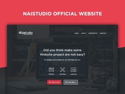 Naistudio Official Website naistudio startup design webdevelopment photoshop psd layout webdesign website