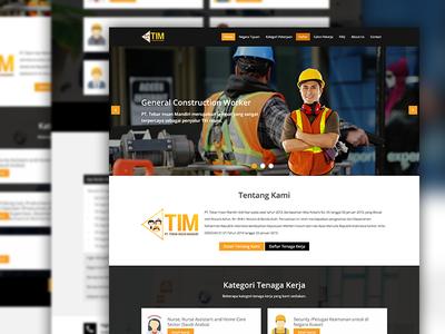PT Tebar Insan Mandiri designer websitedevelopment php html psd layout website webdesign