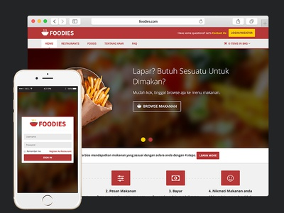 Foodies Online Food Delivery delivery food red mobile apps website