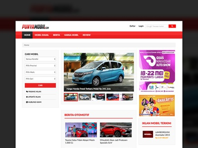 Punyamobil cars wheels website company profilem website cars information branding blog