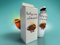 Holy Almond Milk carton concept