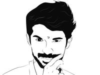 Portrait Vector Line Art