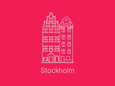Stockholm stockholm gamla stan illustration line vector sweden building europe