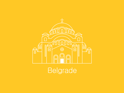 Cathedral of Saint Sava belgrade serbia cathedral church illustration line building europe saint sava