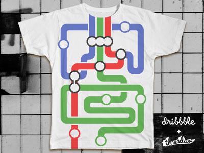 Rapid Transit T-shirt tshirt threadless subway metro trains shirt map illustration illustrator lines
