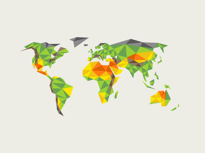 Low Poly World Map earth world map low poly illustration conference shapes