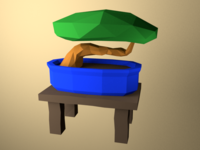 Low Poly Bonsai
