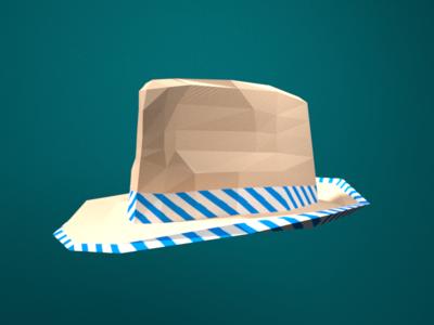 Low Poly Fedora blender hat fedora low poly