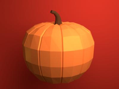 Low Poly Pumpkin pumpkin blender low poly
