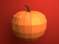 Low Poly Pumpkin