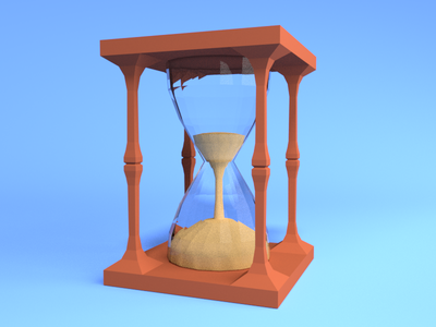 Low Poly Hourglass hourglass blender low poly