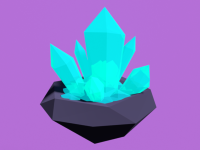 Low Poly Crystals crystals 3d low poly