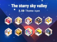 The starry sky valley