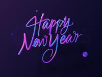 Happy New Year Font Design