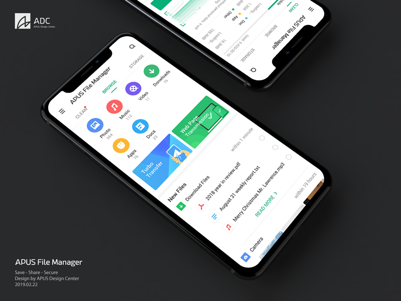 APUS File Manager by APUS Design Center on Dribbble