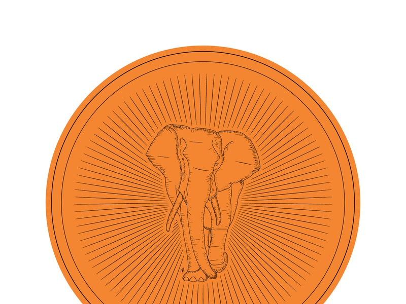elephant indie design vector