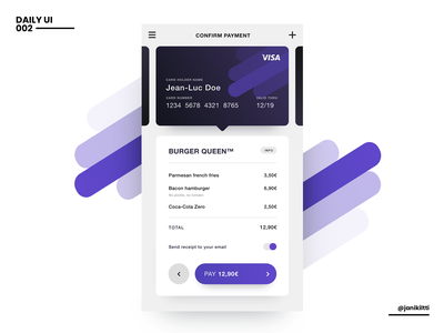 Daily UI - 002 - Credit Card Checkout design ux ui app design dailychallenge dailyui adobe xd