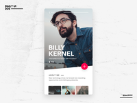Not So Daily UI - 006 - User Profile