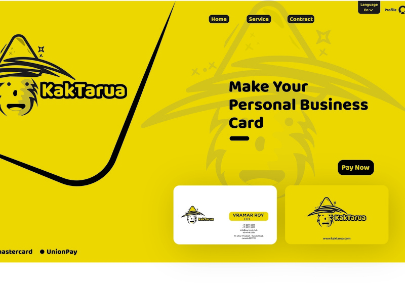 web design Business card selling