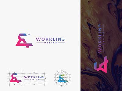 Brand Guide logo design . pink blue brand worklinedesign brand guides 100usd vector illustration logo design logotype creative logo design branding logodesign