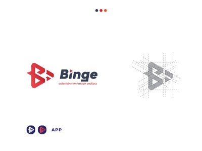 Binge logo redesign ui vector illustration logo design logotype creative logo design branding logodesign