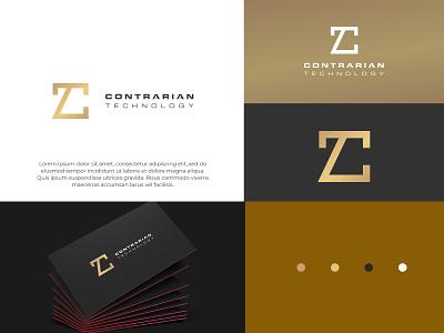 Luxury investment  technology company gold color clean modern ui vector illustration creative design logotype logo design branding logodesign luxury logo