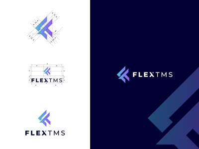 FlexTms a Transportation Management System . trensportation business modern concept clean new logo graphic design vector illustration logodesign design logotype creative branding logo design logo logocorporate