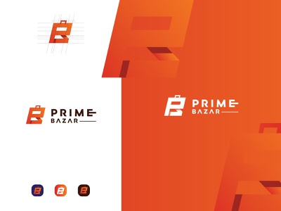 Logo design for Prime Bazar e-commerce site tranding ecom ecomerce wow simple modern corporate design logo design vector logotype creative logodesign graphic design logo branding