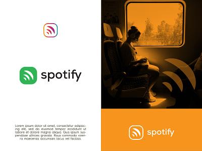 spotify  music striming company logo redesign vector illustration design logotype logo design creative branding logodesign