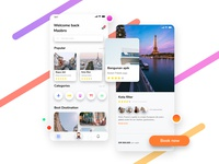 Travel App Design Concept UI