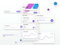 Education Management App Design UI Dashboard