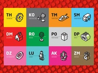 Iconography for stationary LEGO shop