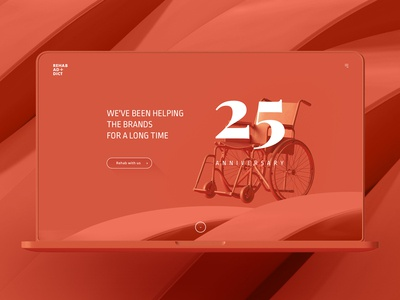 Rehab Ad+dict concept design for it company