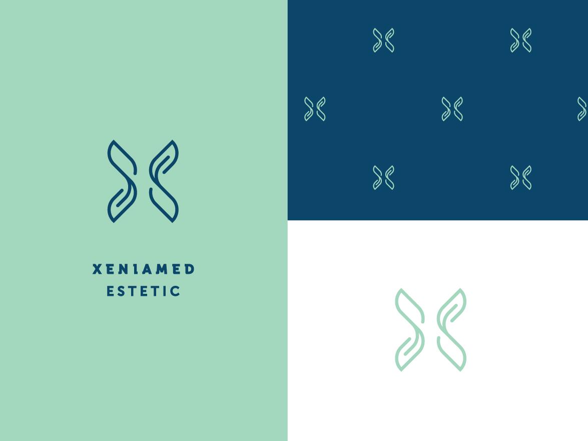 Xeniamed skin clinic leaf blue green x aesthetic medicine