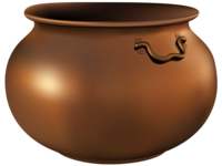 Gradient mesh fun: Metal Pot